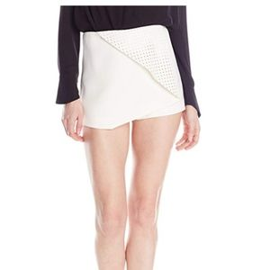 BCBG Leather front Skort